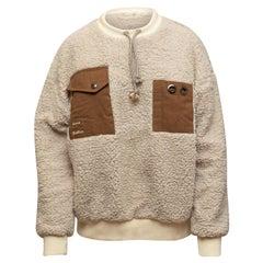 Acne Studios Cream & Brown Fleece Pullover Sweater