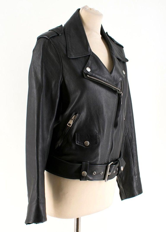 c32b0365f Acne Studios Mape Black Leather Jacket US 0-2