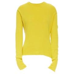 ACNE STUDIOS Materia SS15 100% cotton split back sweater top S