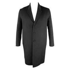 ACNE STUDIOS Size 38 Black Wool / Cashmere Notch Lapel Long Coat