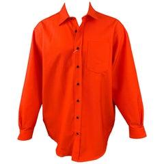 ACNE STUDIOS Size S Orange Cotton / Polyester Oversized Long Sleeve Shirt