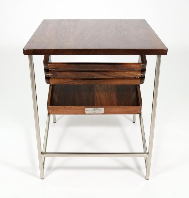 'Acolyte' Side Table with Book Display Shelf by Alexander Giray For Sale 3