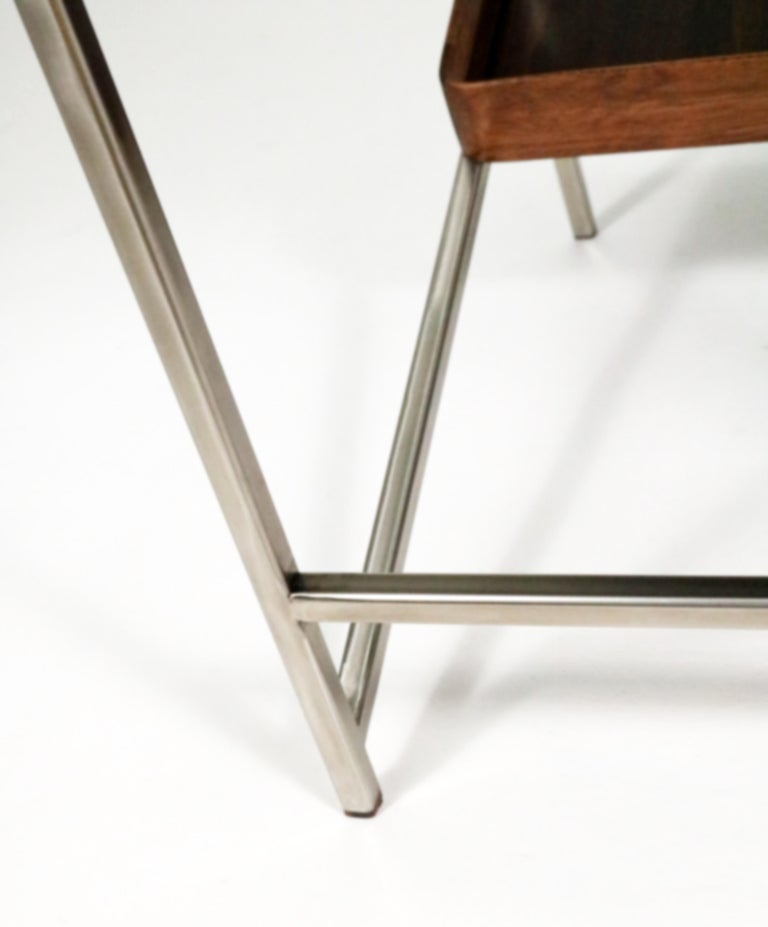 'Acolyte' Side Table with Book Display Shelf by Alexander Giray For Sale 6