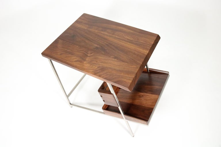 'Acolyte' Side Table with Book Display Shelf by Alexander Giray For Sale 7