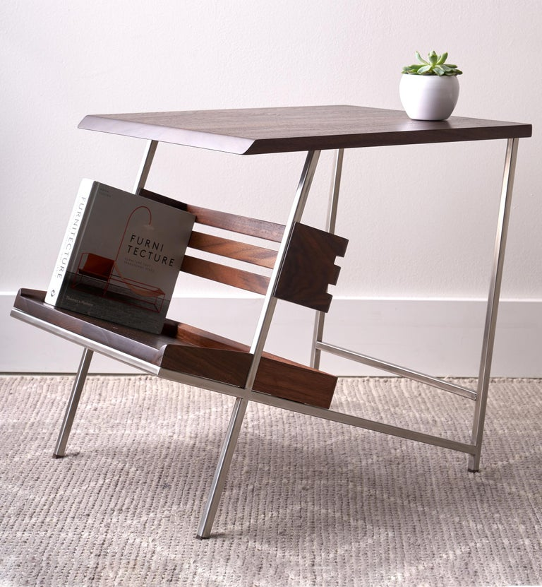 'Acolyte' Side Table with Book Display Shelf by Alexander Giray For Sale 9