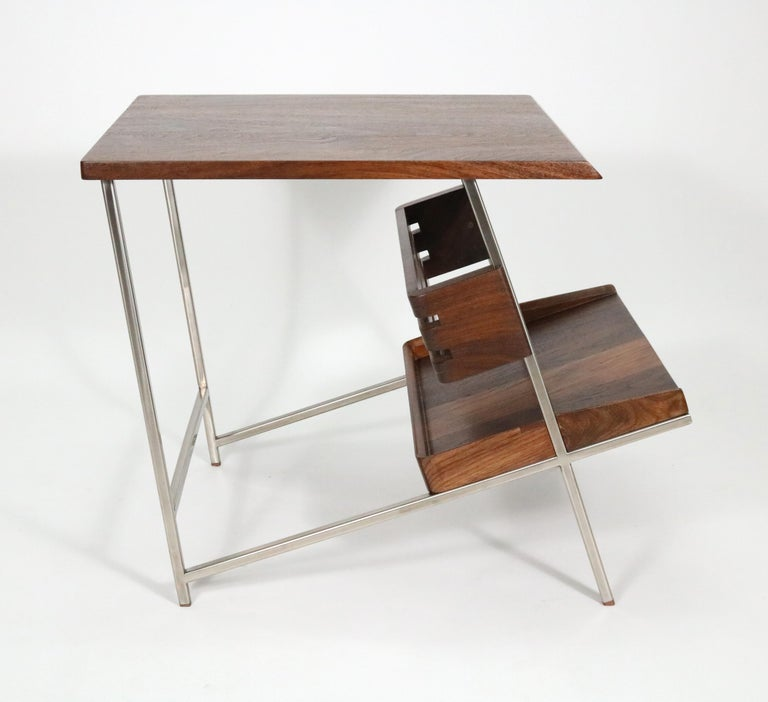 Post-Modern 'Acolyte' Side Table with Book Display Shelf by Alexander Giray For Sale