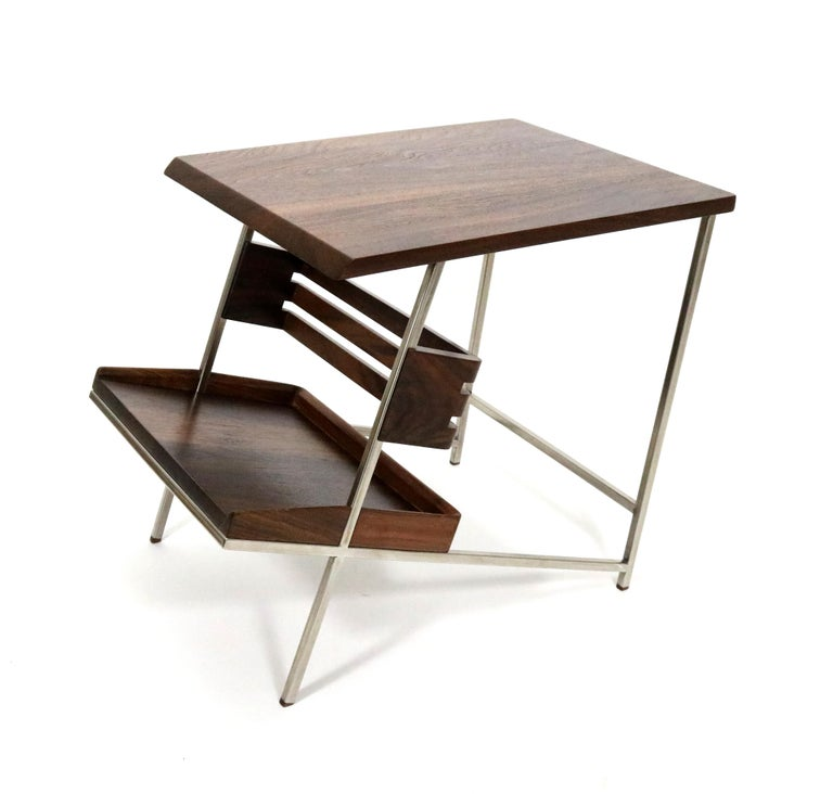 American 'Acolyte' Side Table with Book Display Shelf by Alexander Giray For Sale