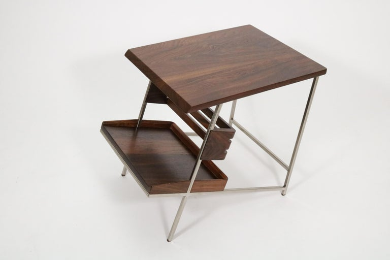 'Acolyte' Side Table with Book Display Shelf by Alexander Giray In Excellent Condition For Sale In Denver, CO