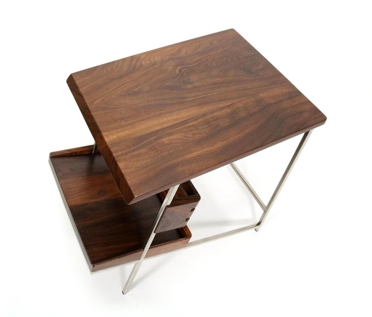 Contemporary 'Acolyte' Side Table with Book Display Shelf by Alexander Giray For Sale