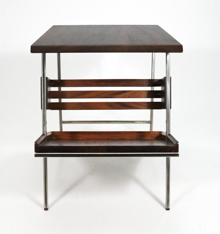 'Acolyte' Side Table with Book Display Shelf by Alexander Giray For Sale 1