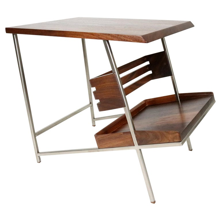 'Acolyte' Side Table with Book Display Shelf by Alexander Giray For Sale