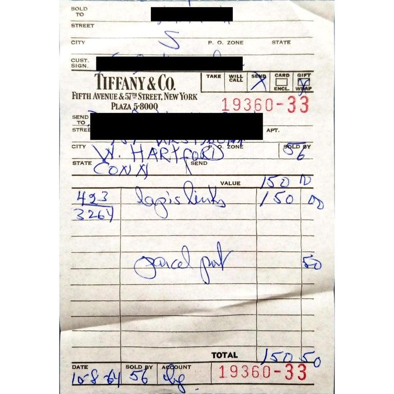 Acorn 18 Karat Cufflinks with Lapis Lazuli, Jean Schlumberger for Tiffany & Co. For Sale 2