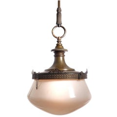 Acorn Domed Milk Glass Chandelier