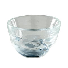 Acqua Bowl in Crystal and Grape Murano Glass by Michela Cattai