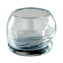 Acqua Glass in Crystal and Grape Murano Glass by Michela Cattai