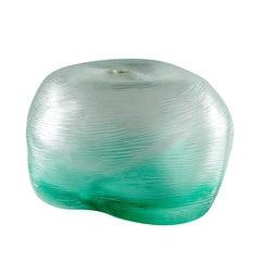 Acqua Small Vase in Crystal and Mint Green Murano Glass by Michela Cattai