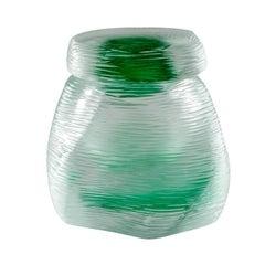 Acqua Vase in Crystal and Mint Green Murano Glass by Michela Cattai