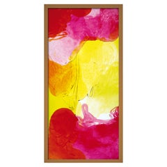 Acquarelli Framed Light Fixture in Red, Pink and Yellow Resin by Jacopo Foggini