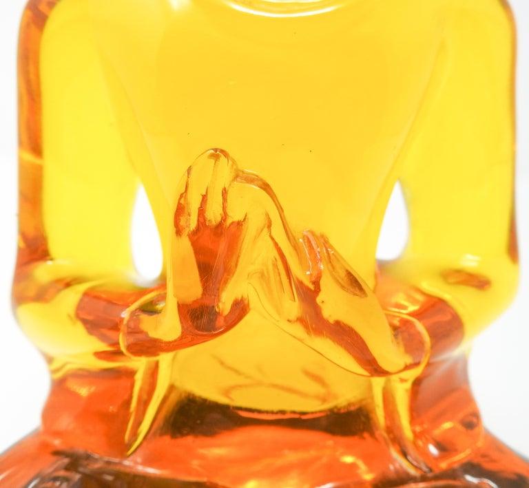 Hong Kong Acrylic Amber Buddha Sculpture For Sale