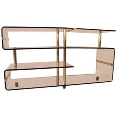 Acrylic and Brass Console, 1970s
