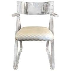Acrylic Armchair with Contoured Back