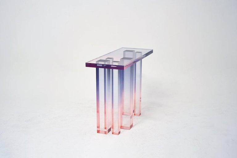 Korean Acrylic Console Table, Crystal Series, Console Table No. 3 by Saerom Yoon For Sale