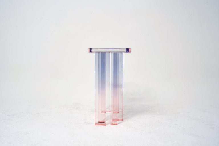 Contemporary Acrylic Console Table, Crystal Series, Console Table No. 3 by Saerom Yoon For Sale
