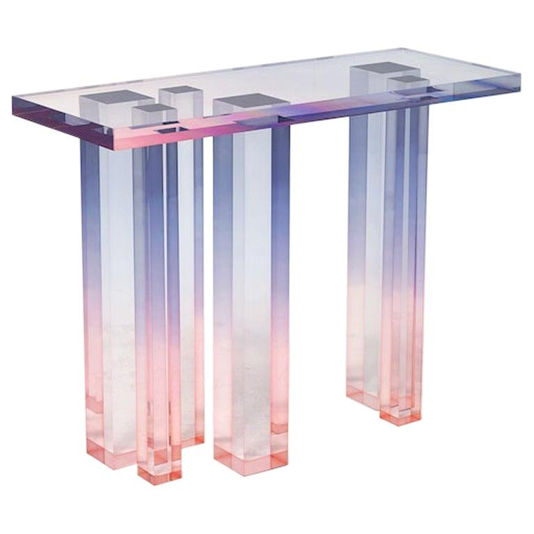 Acrylic Console Table, Crystal Series, Console Table No. 3 by Saerom Yoon For Sale