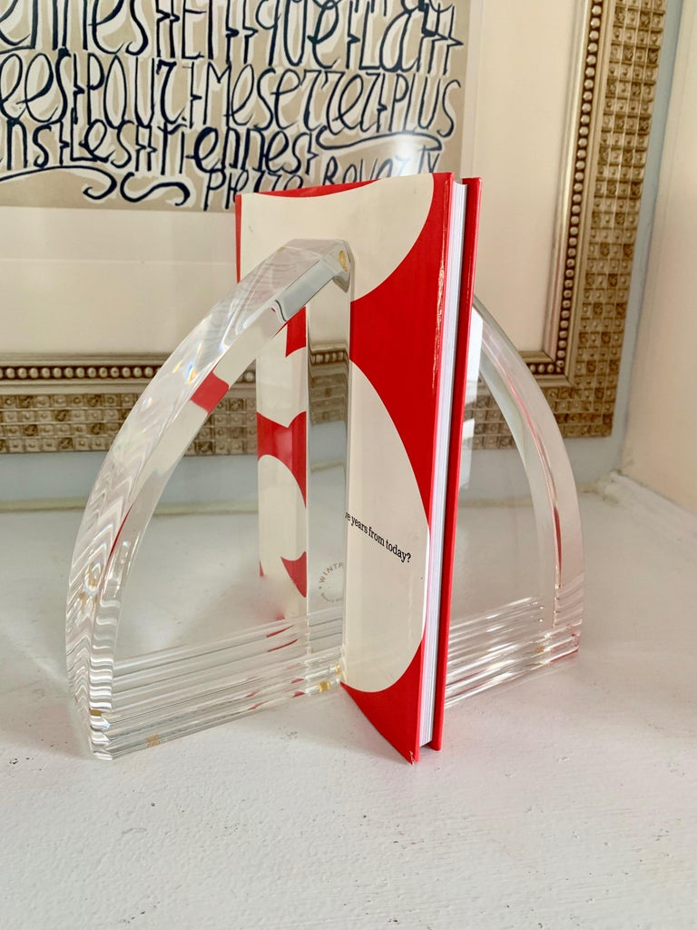 Acrylic Lucite Bookends For Sale 1