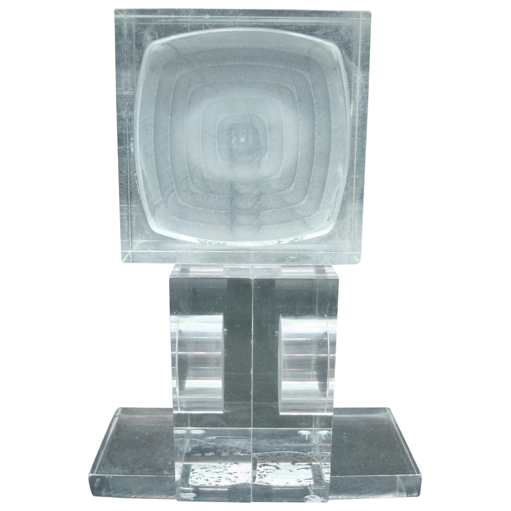 Mid Century / Modern -  Acrylic / Lucite Sculpture Abstract, 1960s