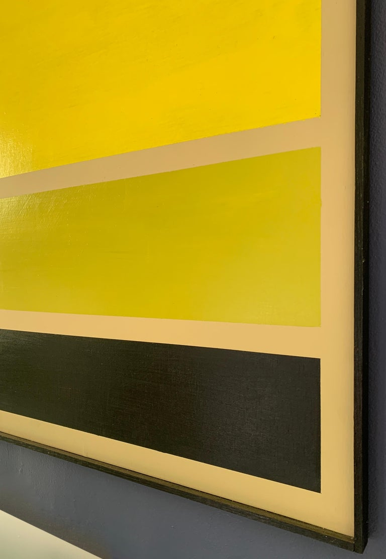 Modern Acrylic on Board Trio of Yellow by Darren Ransdell Design For Sale