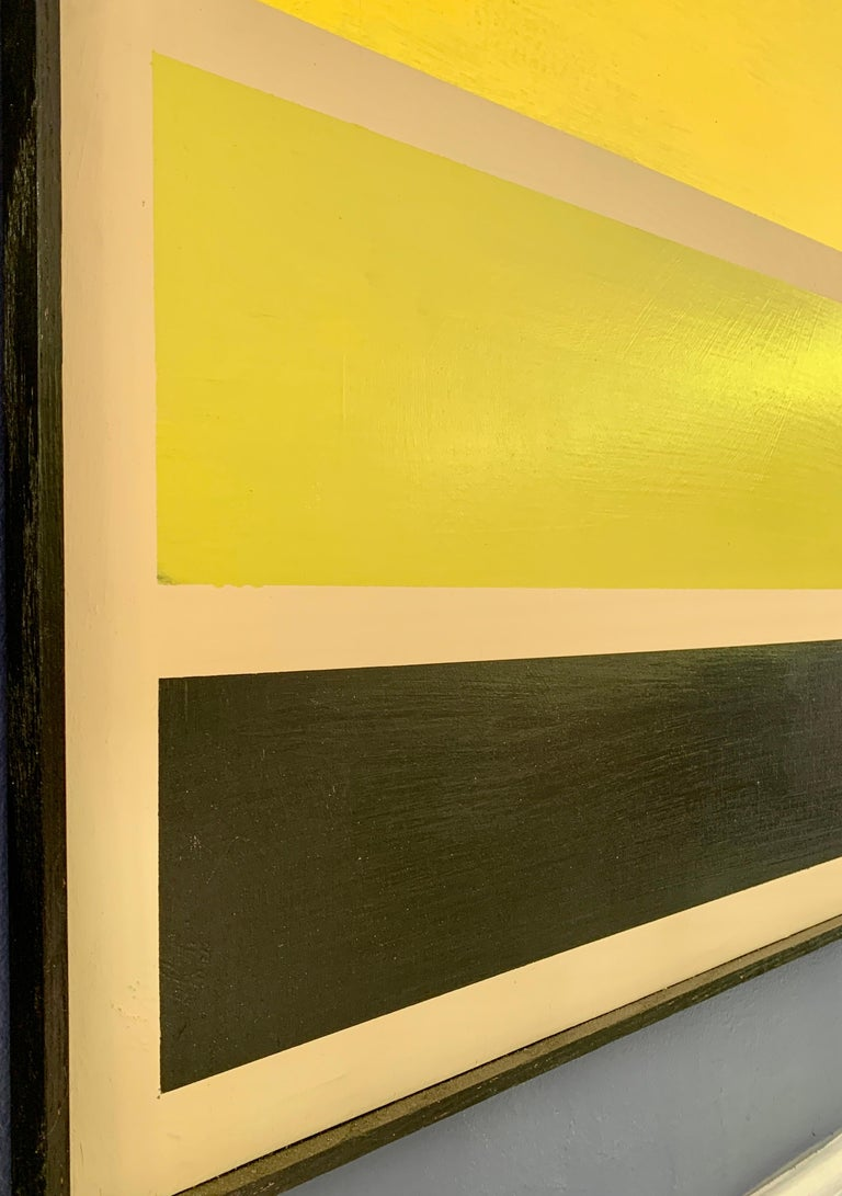 American Acrylic on Board Trio of Yellow by Darren Ransdell Design For Sale