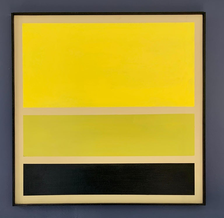 Acrylic on Board Trio of Yellow by Darren Ransdell Design In Good Condition For Sale In Los Angeles, CA