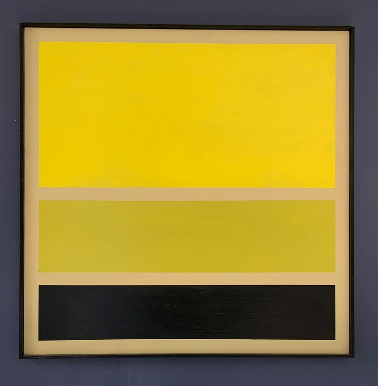 Contemporary Acrylic on Board Trio of Yellow by Darren Ransdell Design For Sale