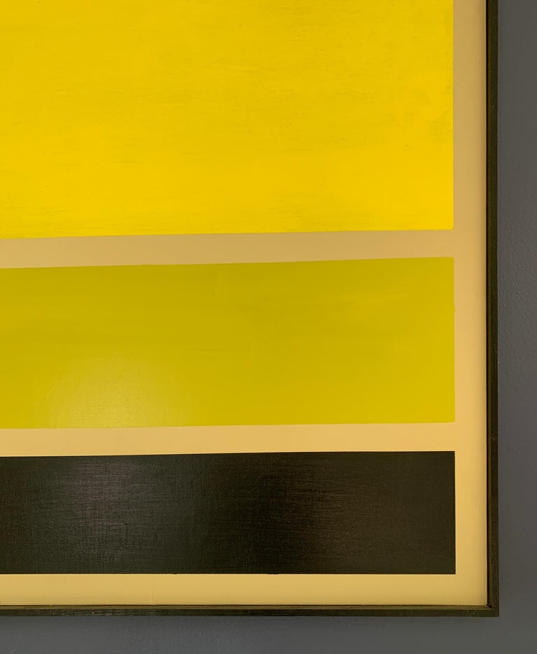Acrylic on Board Trio of Yellow by Darren Ransdell Design For Sale 1
