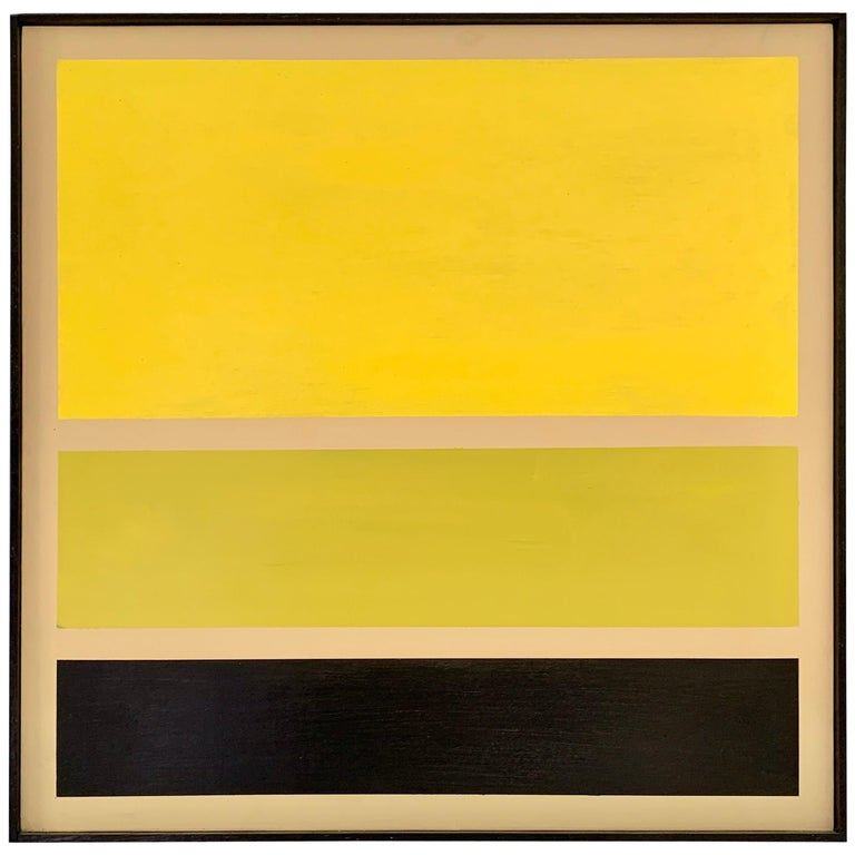 Acrylic on Board Trio of Yellow by Darren Ransdell Design For Sale