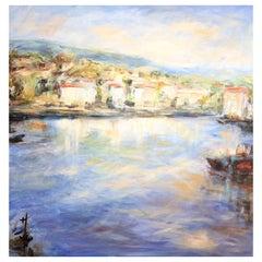 "Acrylic on Canvas ""A Corner of St. Jean de Luz"" by Jacqueline Carcagno, 2019"