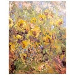 """Acrylic on Canvas, """"Le Chant des Tournesols"""" by Jacqueline Carcagno, 2019"""