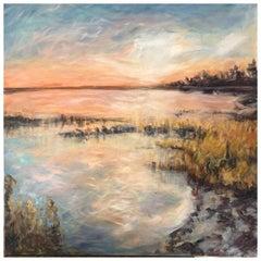 """Acrylic on Canvas """"Le Son du Silence"""" by Jacqueline Carcagno, 2019"""