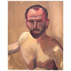 "Acrylic on Canvas Nude Portrait Painting of ""Doug"""
