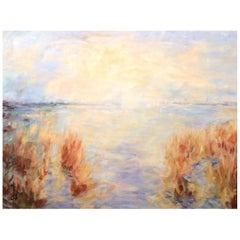 """Acrylic on Canvas """"Soft Light on the Seagrass"""" by Jacqueline Carcagno, 2019"""