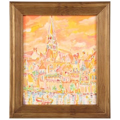 Acrylic Painting by the French Artist Roland David, Signed