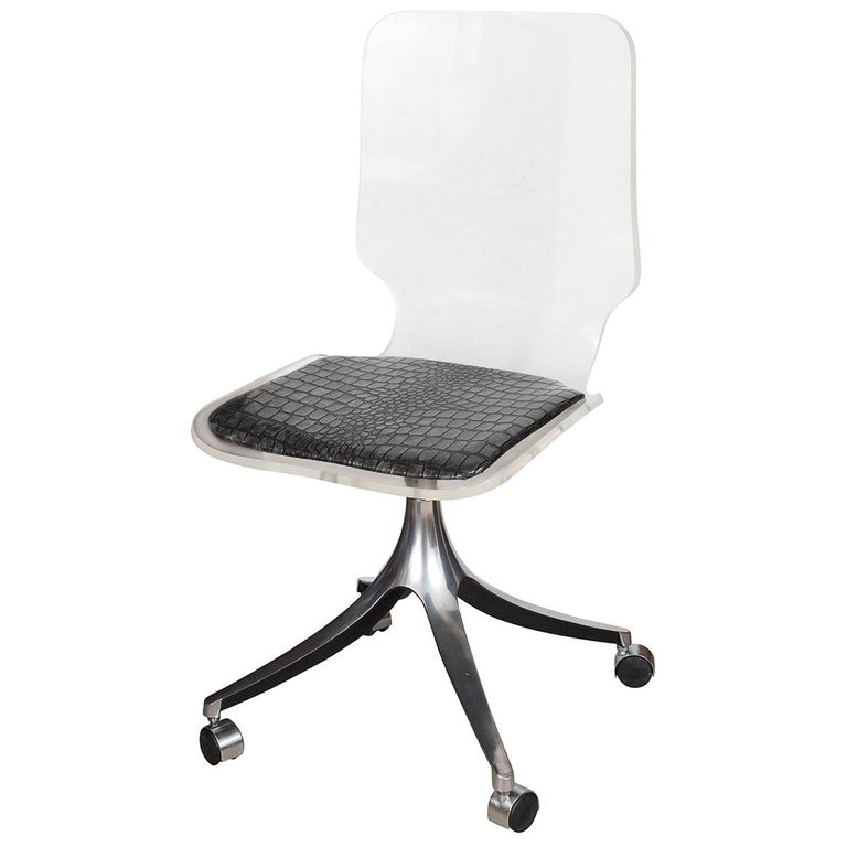 Acrylic Rolling Chair For Sale