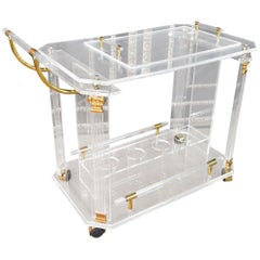 Acrylic Serving Table with Removable Tray