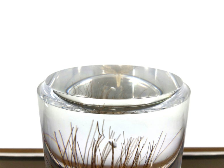 20th Century Acrylic Wheat Ear Cylindrical Sculpture in Modern Style, Italy For Sale
