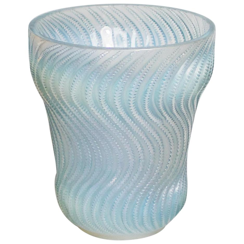 """""""Actinia' by René Lalique Opalescent Glass Vase"""