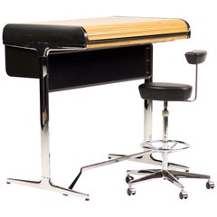 Action Office High Roll-Top Desk with Perch by George Nelson
