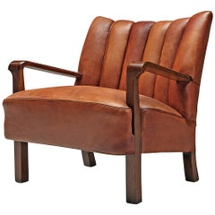 Acton Bjørn for A.J. Iversen Armchair in Original Niger Leather