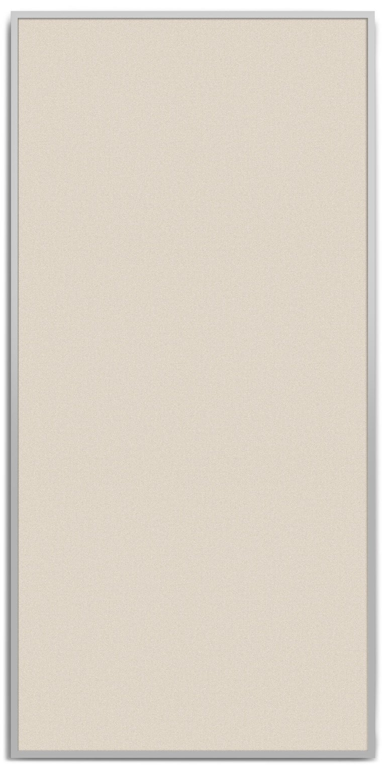 Embroidered Acustica, Opus 2, Noise Cancelling Acoustic Panel, Grey Frame For Sale