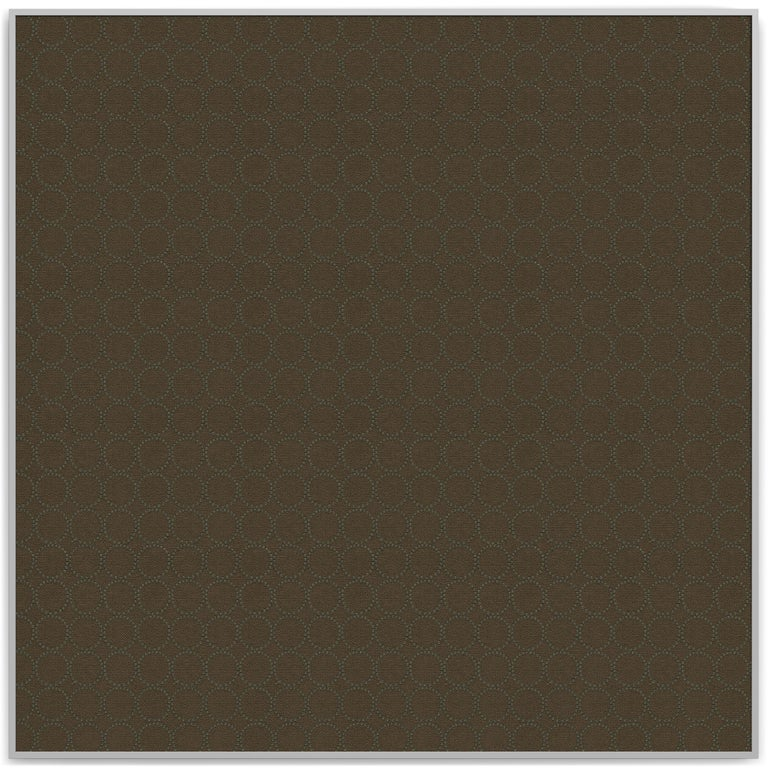 Embroidered Acustica, Opus 4, Noise Cancelling Acoustic Panel, Grey Frame For Sale